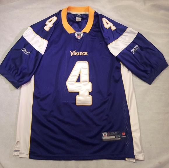 c0c90ccab Reebok Brett Favre  4 Minnesota Vikings Jersey. M 5c1826b77386bcdc985c1ffd